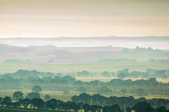Rolling Hills che sembra ad ovest dall'allerta della collina della cava, Clare Valley South Australia Fotografia Stock