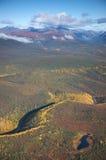 Rolling Hills com um River Valley Foto de Stock Royalty Free