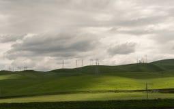 Rolling Hills di California del Nord Immagine Stock