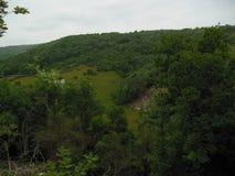 Rolling Hills e cielo Immagine Stock