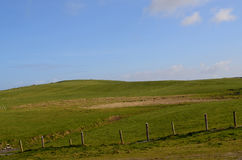 Rolling Hills and Fields Along the Cliff`s of Moher Royalty Free Stock Photo
