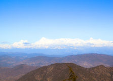 Rolling Hills. And the Himalayas as seen from Nainital Royalty Free Stock Photos