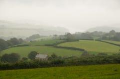 Rolling Hills i Cornwall royaltyfri fotografi