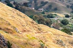 Rolling Hills i det s?dra San Francisco Bay omr?det, San Jose, Kalifornien fotografering för bildbyråer