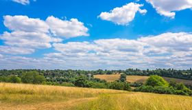 Free Rolling Hills In The Surrey Countryside Royalty Free Stock Photos - 128183338