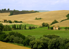 Rolling Hills In Tuscany Royalty Free Stock Photos