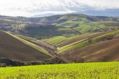 Rolling Hills von Italien Stockfotografie