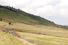 Rolling Hills nel gioco di indicatore luminoso Fotografia Stock
