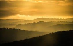 Rolling Hills no por do sol Foto de Stock Royalty Free