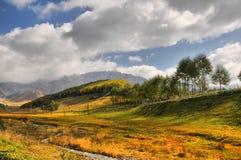 Rolling Hills och gräsplanfält Fotografering för Bildbyråer