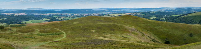 Rolling Hills Panorama England Royalty Free Stock Photography