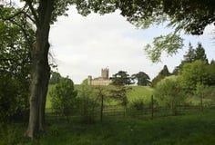Rolling Hills in Richtung zu Downton-Abtei lizenzfreie stockbilder