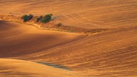 Rolling hills in South Moravian region stock photography
