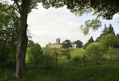 Rolling hills towards Downton Abbey Royalty Free Stock Images