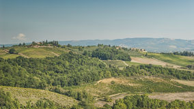 Rolling Hills of Tuscany Stock Photography