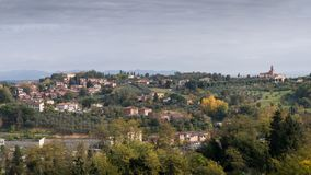 Rolling hills in Tuscany, Italy stock photo