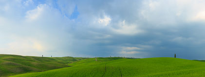 Rolling Hills of Tuscany, Italy Royalty Free Stock Photography