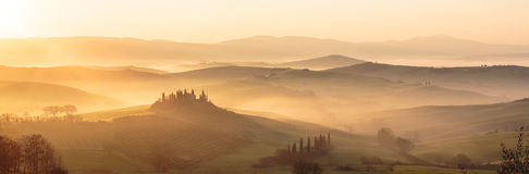 Rolling Hills of Tuscany, Italy Stock Photo
