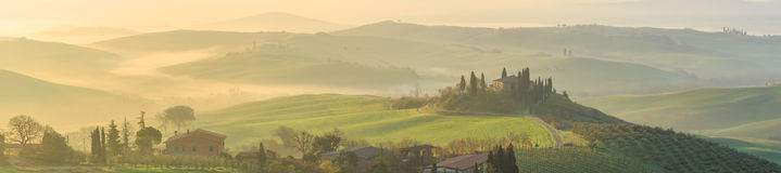 Rolling Hills of Tuscany, Italy Royalty Free Stock Photo