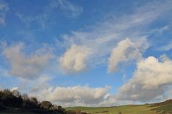 Rolling Hills und Ackerland Stockbild