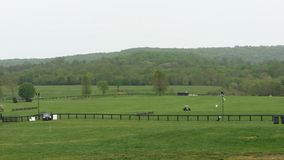 Rolling Hills. Virginia countryside equestrian fields stock photography