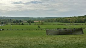 Rolling Hills. Virginia countryside equestrian fields stock photo