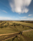 Rolling Landscape in the Cotswolds, a beautiful view near Broadway Stock Photo