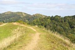 Rolling landschap van malvern heuvels Stock Afbeelding