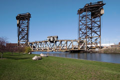 Rolling Lift Bridge. The last Chicago Area Rolling Lift Bridge built in 1906, 18th and Cermack Stock Photography