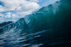 Rolling Ocean Waves Under Clear Blue Sky Royalty Free Stock Images