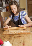Rolling out the Dough. Royalty Free Stock Photos