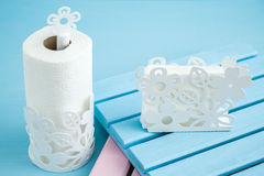 Rolling Paper Towel Standing Holder Royalty Free Stock Photography
