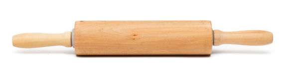 Rolling pin. Baking rolling pin and on white background Royalty Free Stock Photography