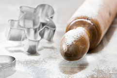 Rolling Pin With Cutters Stock Photography