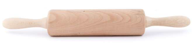 Rolling pin isolated. Rolling pin on isolated white background Stock Images