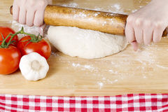 Rolling pin knead Stock Photos