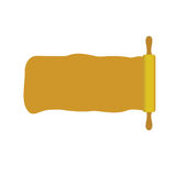 Rolling pin with space for message Royalty Free Stock Photos