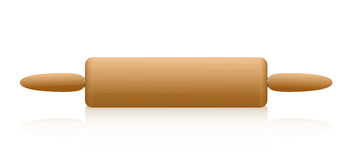 Rolling Pin Wooden Texture Stock Photos