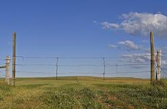 Rolling prairie pasture land Stock Photos