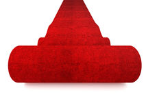 Rolling red carpet Stock Photography