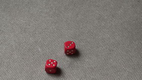 Rolling Red Dice stock footage