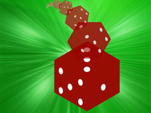 Rolling red dice illustration. Illustration of translucent rolling red dice showing gambling royalty free illustration