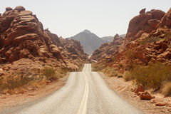 Rolling Road Through Red Rock Canyons Stock Images