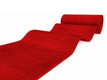 Rolling rood tapijt Royalty-vrije Stock Foto's