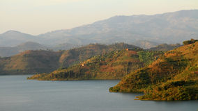 Rolling Rwandan Hills. A collection of rolling hills along the shores of lake Kivu royalty free stock image