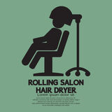 Rolling Salon Hair Dryer royalty free illustration
