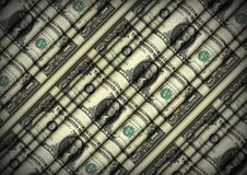 Rolling Sheet of Dollar Bills Royalty Free Stock Images