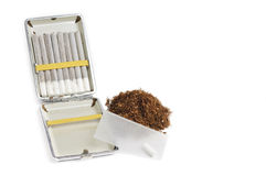 Rolling snuff. With white backgrpound and isolated Royalty Free Stock Photography