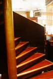 Rolling stairs. In a bar royalty free stock images