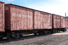 Rolling stock at Nevada Northern Railway Museum, East Ely Stock Photography